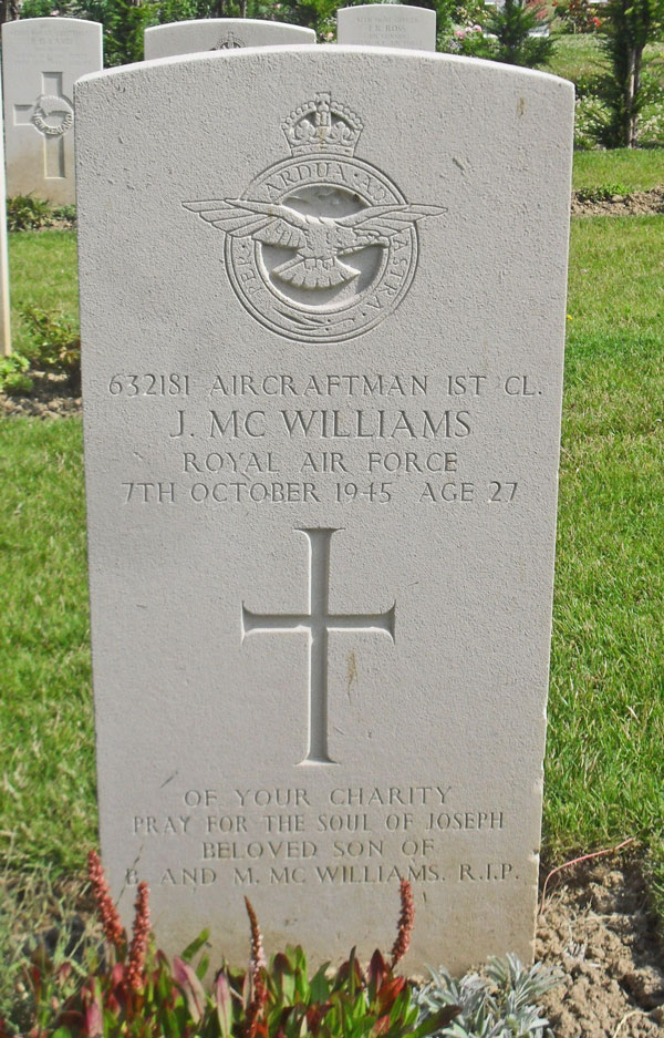 Joseph McWilliams - Rennes Eastern Communal Cemetery -